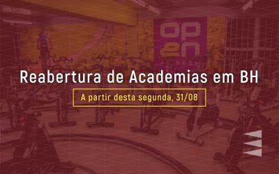 PBH anuncia reabertura de Academias