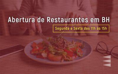 Abertura de restaurantes de BH para o almoço