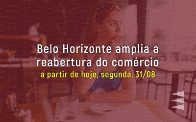 Belo Horizonte amplia a reabertura do comércio a partir de 31/08